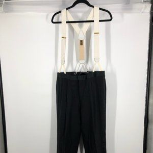 Trafalgar White and Beige Suspenders